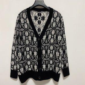 Neck Runway Sweater 2021 V Sleeves Milan Long Women's 1225-1 High Cardigan Jacquard Designer Women End Sweater Sweaters Xxdei