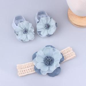 Baby Headband Sock 3pcs / Set Box regalo Borsa per neonato Neonato Toddlers Girls Cute Capelli Accessori per capelli Baby Shower Favore 39 Stili Zyy535