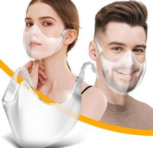 Proteggi maschera PC Maschere trasparenti Splash Shield Scudo viso ad alta definizione Scudo trasparente Trasparente Proof Mask Boutique Outdoor Boutique New E110601