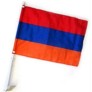 Оптовая флаг Армении окна автомобиля Флаги 12x18inch, Малый полиэстер печать хорошее качество Дешевые Висячие, Бесплатная доставка