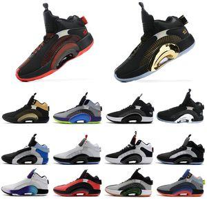 Fragment XXXV 35 Centre de gravité ADN Bayou Boys Hommes Chaussures de plein air 35 Menskets de sport de basket-ball multicolores pour hommes