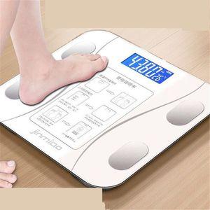 Bluetooth Kat Scales Banyo Vücut Akıllı Elektronik Dijital Ağırlık Ev Zemin Denge sertleştirilmiş cam LCD Scales