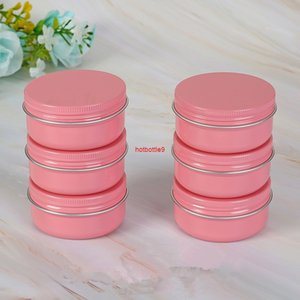 50PCS Pink 10g 30g 50g 60g Aluminum Jars Lip Balm Pot Skin Care Cream Eyeshadow Lipgloss Liquid Base Foundation Container Tinspls order