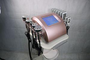 6 في 1 40K التجويف بالموجات فوق الصوتية تردد الدهون آلة التخسيس ليبو ليزر فقدان الوزن الراديو شد الجلد معدات التجميل 5 رؤساء