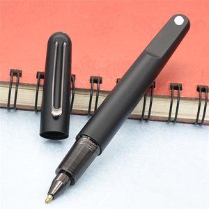 Caneta esferográfica de resina preta mate da edição limitada com canetas de esferográfica do fechamento magnético para escrever com presente
