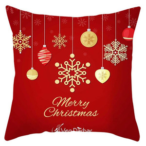 Hot Sale Christmas cushion cover 45*45 Pillowcase sofa cushions Pillow cases Cotton Linen pillow covers Home Decor