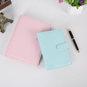 Notebook per notebook vuoto Leaby Leaf Notebook senza carta PU Faux Copertura in pelle Copertura file Folder Spiral Planner Scrapbook 4 Colori DWC4160