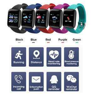 Fitness Tracker ID116 PLUS Pulseira inteligente com frequência cardíaca Smart Pressure Wristband 116 Plus F0 para Fitbit MI BAND 116Plus