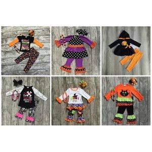 Girlymax Oferta especial Baby Girls Fall / Winter Halloween Halloween Ropa Cotton Set Match Accessories 201020