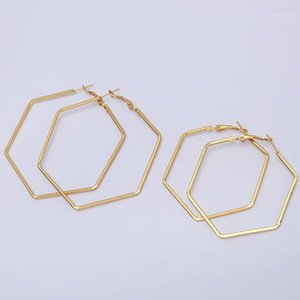 Size 50mm 60mm 2020 New Big Circle Round Hoop Earrings for Women's Fashion Statement Golden Punk Charm Earrings Party Jewelry1