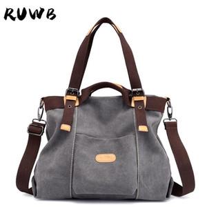 Ruwb Girls повседневная большая холст сумка 2021 весна женская сумка на плечо мода женщин посыльный сумки сумки покупатель большая емкости сумки