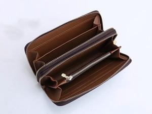 wallet Men's Wallet Zipper Bag Male Designer Wallets Purse Fashion Card Holder Pocket Long Men Bag with Box