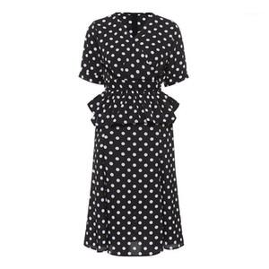 2018 Yeni Moda Zarif Kadın Takım Elbise Düz Polka Dots Pileli Dalga Kesim Kızlar Sonbahar Popüler 2 Parça Setleri Resmi Etek Takımları1