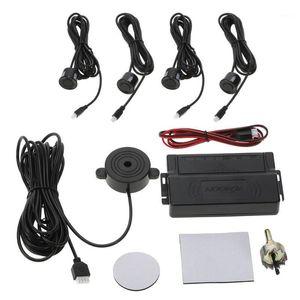 Car Auto Parking Sensors Kit 4 استشعار قابل للتعديل عرض نظام مراقبة ضوء النسخ الاحتياطي مع تنبيه الجرس Parktronic1
