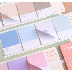 Mohamm Roue de quatre couleurs Série Kawaii Mignonne Notes Sticky Notes Memo Pad Diary Papeterie 80PCS F WMTVLR