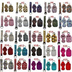 3 Stück Reise Keychain Inhaber Kits, einschließlich 30 ml Hand Sanitizer Holder Keychain, Wristlet Schlüsselanhänger Lanyard, Chapstick Holder für tra