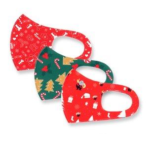 크리스마스 성인 어린이 빨 Resuable 메리 크리스마스 인쇄 얼굴 마스크 크리 에이 티브 패션 마스크 방진 파티 마스크