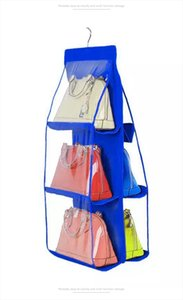 Cosmetic Bags Two Sides Hanging Storage Bag Shoes Handbag Organizer Storage Bag Closet Hanger Handbag Holder Organiser