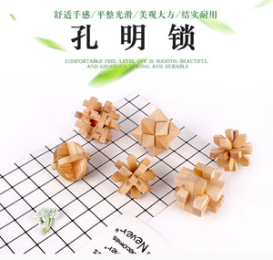 Christmas gift Puzzles Games Wooden Chinese Traditional Educational Toys for Adult Children LU BAN Intelligence lock
