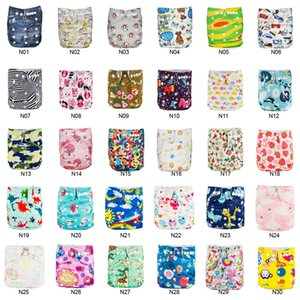 Best Price Babyland 50pcs Baby Cloth Diapers Reusable Washable Pocket Nappy +50pcs Microfiber Inserts 3 Layers Liners for Diaper 201020