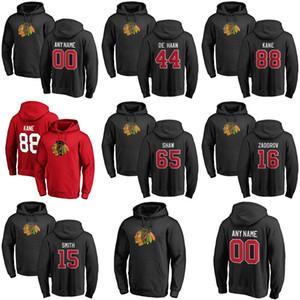 Chicago Blackhawks Pullover Felpa con cappuccio da Corey Crawford Patrick Kane Jonathan Toews Duncan Keith Brandon Saad Hockey giacche con cappuccio personalizzato stitche