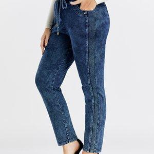 Lih Hua Femme Plus Taille Casual Jeans Haute flexibilité W1222