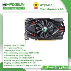 Maxsun GeForce GTX1650 4G 128bit Grafikkarte Nvidia GDDR5 GPU Video-Spiel-Videokarte für PC Computer HDMI DP DVI