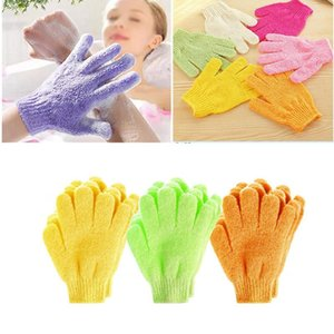 2Pcs Set Bath Glove Exfoliating Wash Skin Foam Bath Body Massage Cleaning Scrubber Skid Resistance Shower Tools