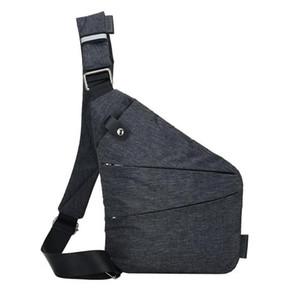 Waist Bags Unisex Anti-Theft Male Chest Bag Men Hidden Shoulder Messenger Casual Retro Crossbody Cool Canvas Motorcycle Sling