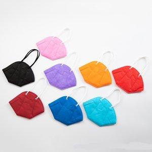 KN95 MASK MULTICOLOR FFP2 пылезащищенные 5 слоев защиты 95% фильтрация маска лица нетканая ткань черные фиолетовые синие маски лица