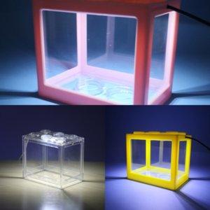 ACDHO Akvaryum Yapay Işık Lionfish Balık Kurşun Işık Lego Işık Blokları Aqrium Fish Tankı Balık Süs Silikon Sahte Tankı Için