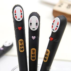 Yeni Japonya Spirited Away Kırtasiye HAYAO Miyazaki Animasyon Jel Kalemler Yenilik Karikatür Yüzü olmayan Erkekler Siyah Mürekkep