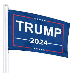 3x5ft Blue Trump Flag 2024 Hanging 90*150cm Trump Keep America Great Banners 2024 Trump Election Flag GWC6031