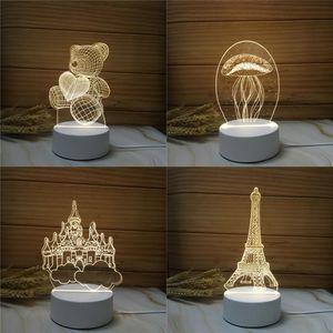 Valentines Day Gift For Girlfriend 3D Night Light Love Heart Lamp USB Acrylic Lights Anniversary Wife Present w-00591 91 J2