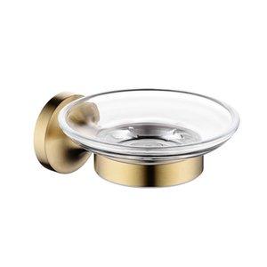 Paslanmaz Çelik Banyo Donanım Seti Sabun Kutusu Duş Bath House Konteyner Tutucu Sabunluk Banyo Aksesuarları In Fırçalı Altın wmtMsz