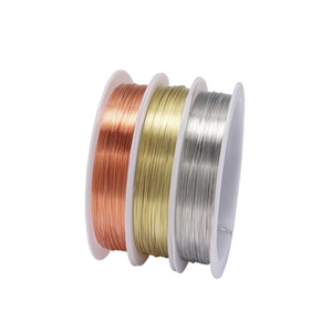 1 Roll Sturdy Gold Alloy Copper Wire Dia 0.2 0.3 0.4 0.5 0.6 0.7 0.8 1 mm Thread Metal String Wire For DIY Beads Jewelry Making C1001