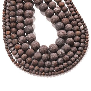 4 12 мм натуральный камень алюбастр коричневые снежинки обсидианские бусины круглые свободные разные бусины для DIY браслетов ювелирные изделия делают выводы H Bbymed