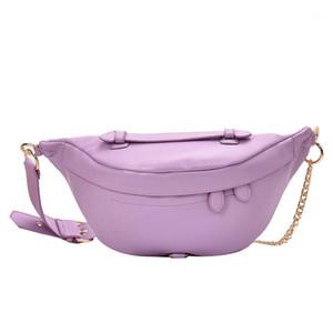 حقيبة المرأة حقيبة الصلبة بو الجلود سلسلة معدنية مبلغ لكل فرقة فاني حزمة البنزين الأزياء البرية حقيبة البطن الفرقة الخصر bag1