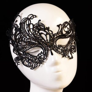 New Sexy Lady Eye Masquerade Ball Black Adult Mask Lace Prom Fashion For Women Costume Halloween Face 2020 yxlfbQ sports2010