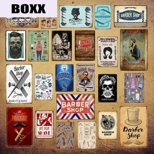 Vintage Barber Shop Metal Signs Haircut Tattoo Poster Cafe Bar College Dorm Decoration Wall Plaque Home Wall Decor YI-039