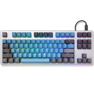 Taihao pbt duplo tiro keycaps para gaming diy teclado mecânico backlit tampas do perfil do OEM através da floresta profunda azul verde lj200922
