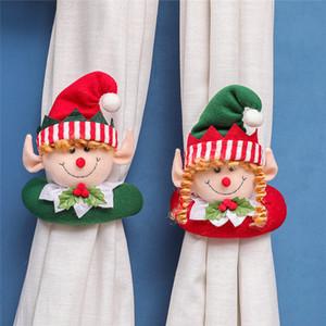 Weihnachtsvorhang Schnalle Tieback Santa Snowman Holdback Fastener Schnalleklemme Dekorationen Weihnachtsverzierungen 60pcs T1i3304