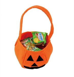 Sacs d'Halloween Sacs Pumpkin Candy Titulaires enfants enfant Jouer Trick Traiter Snack Panier Sac Puissance Sac Portable Halloween Panier Panier EWE4297
