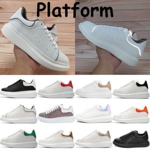 2021 Moda Hombres Mujeres Plataforma Zapatos Black Velvet Snake Skin Dark Grey Metálico Silver Silver Silver Scrap Sneakers Chaussures