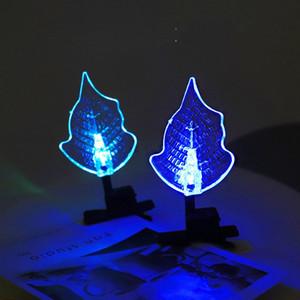 Soft Glue Luminescence Pince à cheveux Dessin animé LED ÉclairM Toys Clip Hair Pince Opp Packing Chaud Vente avec divers modèles 0 83mc J1