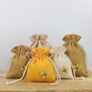 Elegant Empty Sachet Bags Cotton Linen Reusable Muslin Bag Favor Gift DIY Craft Herbs Tea Potpourris Home Fragrance Sachets