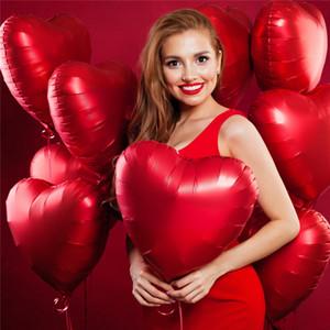 16inch ouro amor carta carta balões de coração balão pendurado presente de urso rosa para o noivado decoração de casamento dia dos namorados decoração cce4286