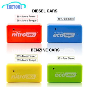 NitroOBD2 Diesel Benzine Increasing Performance Engine Nitro OBD2 Chip Tuining Box EcoOBD2 Fule Saver More Power Retailer Box