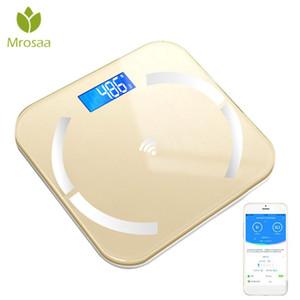 Bluetooth-bilance da pavimento Body grasso scala Smart Elettronico retroilluminato LED Digital Body Peso Scales Bagno Bagno BMI
