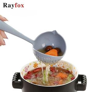 Rayfox Cuisine Ustensiles Accessoires 2 en 1 Poignée longue à soupe Soupe Cuillère Cuisine de cuisine Cuisine Outils de cuisson Gadgets Fournitures